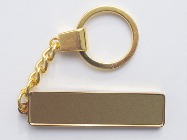 Брелок гос номер под линзу с бортиком (цвет золото) (045)