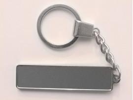 Брелок гос номер под линзу с бортиком (цвет серебро) (046)