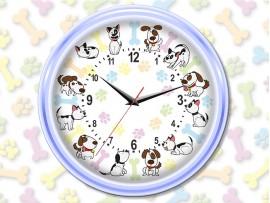 """(31228) Часы круглые """"12 щенков"""""""