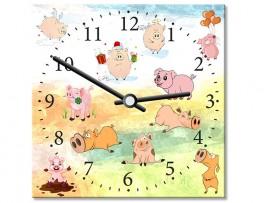 (31917) Часы квадратные «Год жёлтой свиньи»