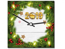(31918) Часы квадратные «С Новым годом!»