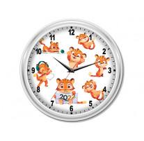 """(32202) Часы круглые """"Тигрята"""""""