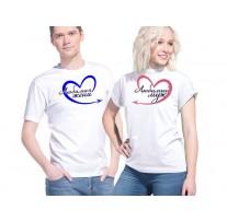 Две футболки с парным дизайном (30277)