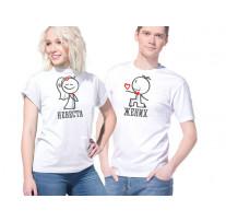 """Две свадебные футболки """"Жених и невеста"""""""