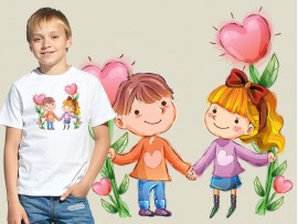 """(31635) Футболка детская """"День святого Валентина"""""""