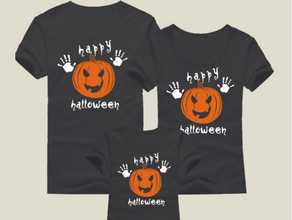 (32019) Футболки для семейной фотосессии «Happy Halloween»