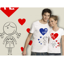 (32042) Две футболки с парным дизайном «Мы вместе»