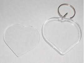 Акриловый брелок под полиграфическую вставку Сердце