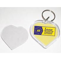 Брелок акриловый в форме сердца