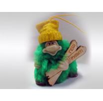 Сувенир-подвеска «Гном малый в цветной шапке борды/лыжи» высота 6,5 см