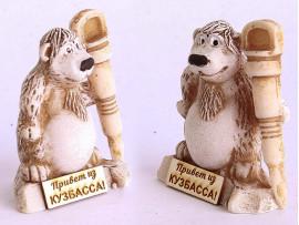 Сувенир Медведь «ЛАПА ПУХ С ОТБОЙНЫМ МОЛОТОМ» высота 6,5 см