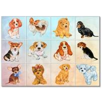 """(31256) Коллекция виниловых магнитов """"Собаки"""" (12 шт)"""