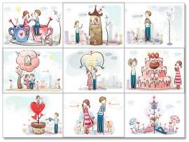 """(31560) Коллекция виниловых магнитов """"День всех влюбленных"""" (9 шт)"""