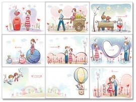 """(31561) Коллекция виниловых магнитов """"Valentine's Day"""" (9 шт)"""