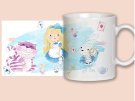 "(31387) Кружка в подарок ""Алиса в стране чудес"""