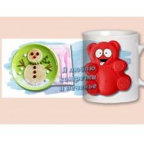 """(31669) Кружка-поздравление """"Валера: Я люблю конфеты и печенье!"""""""