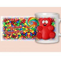 """(31674) Кружка-поздравление """"Валера: Обожаю конфетки"""""""