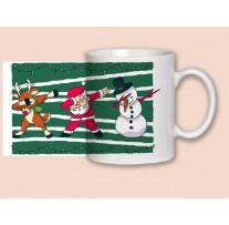 """(31916) Кружка-поздравление """"Christmas dabbing...!"""""""