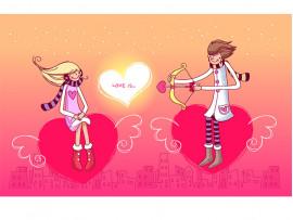 """(31967) Кружка-поздравление """"С Днем святого Валентина"""""""