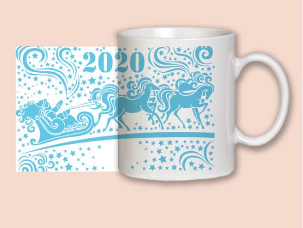 """(32046) Кружка-поздравление """"С Новым годом!"""""""