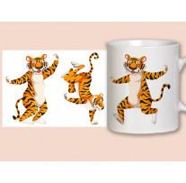 """(32199) Кружка-поздравление """"Танцующие тигры"""""""