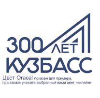 """Наклейка на автомобиль """"Кузбасс - 300 лет"""" (32036)"""