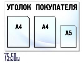 (31493) Информационный стенд на 3 кармана