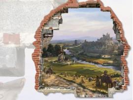 """(31681) Виниловая наклейка """"Портал в сказочный мир"""""""