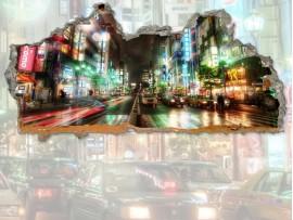 """(31683) Виниловая наклейка """"Портал в Night street"""""""