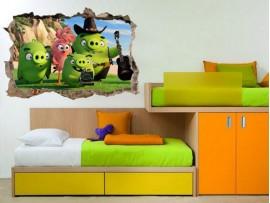 """(31687) Виниловая наклейка """"Портал на остров Angry Birds"""""""