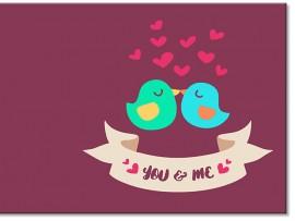 """Открытка """"You & Me"""" 14х14 см"""
