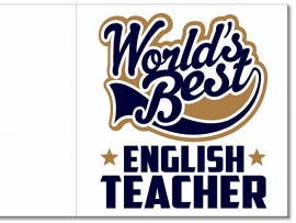 "Открытка ""World's Best english teacher"" 14х14 см"