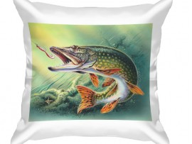 Декоративная подушка в подарок рыбаку (30918)