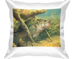 Декоративная подушка в подарок рыбаку (30919)