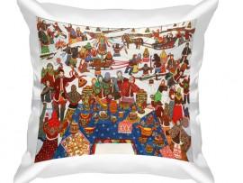 (31709) Подушка декоративная в подарок на Масленицу.