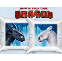 """(32003) Две декоративные подушки """"Как приручить дракона 3"""""""