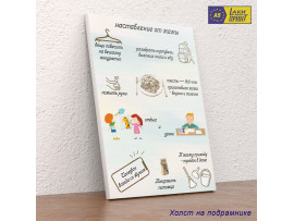 (32115) Плакат-постер «Наставление от мамы» на бумаге, холсте, магните