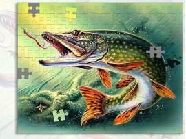 Пазл А3 в подарок рыбаку  (30918)
