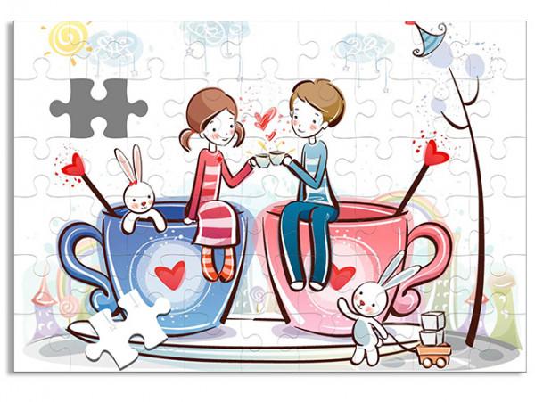 """(32078) Пазл А4 """"День всех влюбленных"""""""