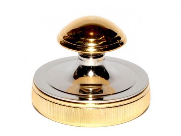 Печать врача - грибок (никель-золото) D30 (РБ)  (Диаметр поля 30 мм)
