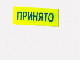 (40091) Готовое клише «Принято» (29х12 мм)