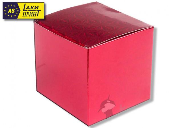 Подарочная коробка для кружки «Красная» (без окна)