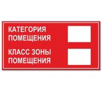 """(31885) Наклейка-Знак """"Категория помещения"""""""